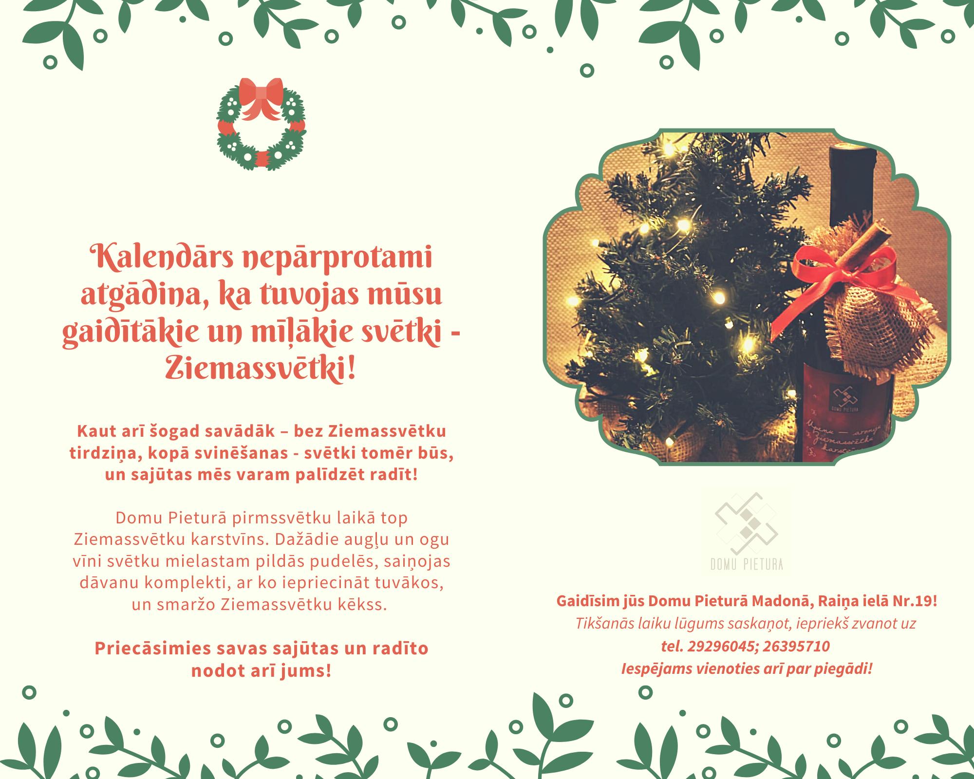 Tuvojas visgaidītākie svētki – Ziemassvētki. Un mēs varam palīdzēt sajūtas radīt, daloties ar Domu pieturā radīto.